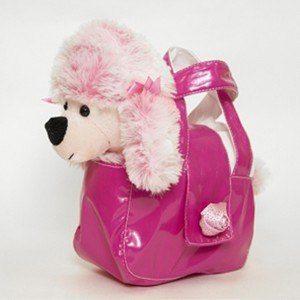 Мягкая игрушка Пудель в сумочке розовый 8.277.1